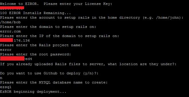 EzRor - Simple Rails Deployment Script